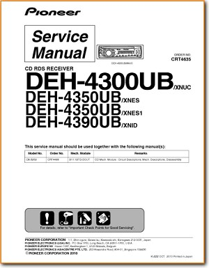 Pioneer DEH-4300-UB Automotive Audio - On Demand PDF Download   EnglishTurntable Needles