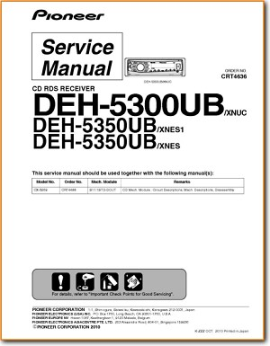 Pioneer deh-5300 5350ub service manual download, schematics.