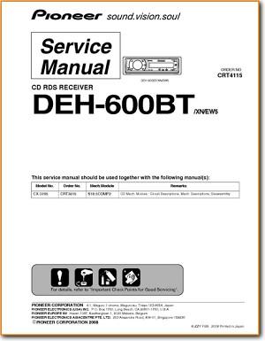Pioneer deh-600bt manuals.