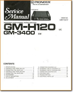 Pioneer GMH-120 Automotive Audio Main Schematics - PDF & Tech Help* |  English