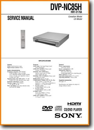 Sony DVPNC-85-H DVD Player Main Technical Manual - PDF & Tech Help* |  English