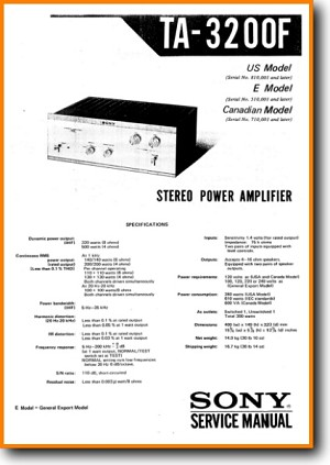 sony ta 3200 f solid state amp receiver on demand pdf download