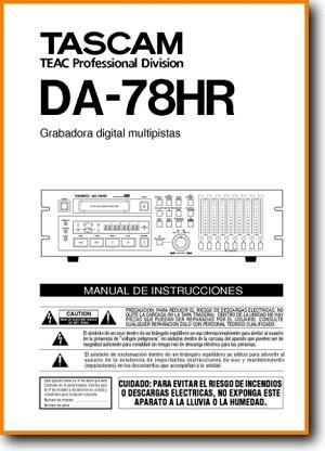 Tascam DA-78-HR Tape Player Main User Book - PDF & Tech Help*   Spanish