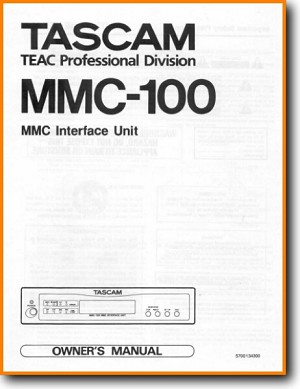 Tascam MMC-100 Cable - Accessory - Misc Main User Book - PDF & Tech Help* |  English