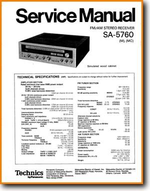 Technics SA-5760 Amp Receiver Main Technical Manual - PDF & Tech Help* |  English