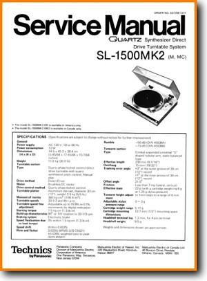 Technics Sl 1500 Mkii Turntable Record Player On Demand