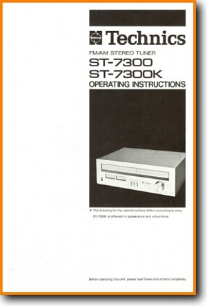 Technics ST-7300 Tuner Main User Book - PDF & Tech Help* | French