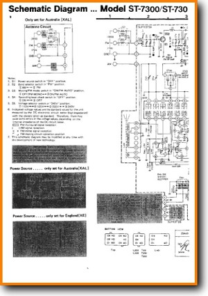 Technics ST-7300 Tuner Main Technical Manual - PDF & Tech Help* | English