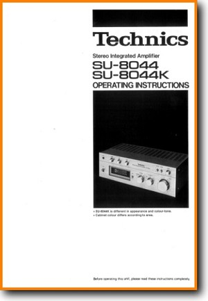 Technics SU-8044-K Amp Receiver Main User Book - PDF & Tech Help* | Dutch