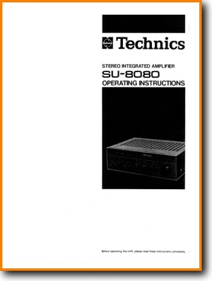 Technics SU-8080 Amp Receiver Main User Book - PDF & Tech Help* | English
