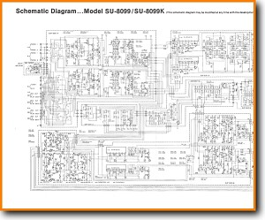 Technics SU-8099-K Amp Receiver Main Schematics - PDF & Tech Help* | English