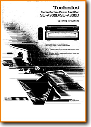 Technics SUA-800-D Amp Receiver Main User Book - PDF & Tech Help* | English
