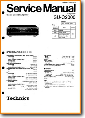 Technics SUC-2000 Amp Receiver Main User Book - PDF & Tech Help* | English