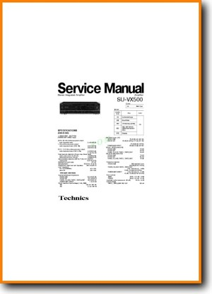 Technics SUVX-500 Amp Receiver Addendum - A Technical Manual - PDF & Tech Help* | English
