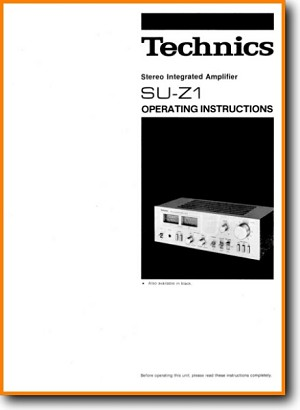 Technics SUZ-1 Amp Receiver Main Schematics - PDF & Tech Help* | Dutch