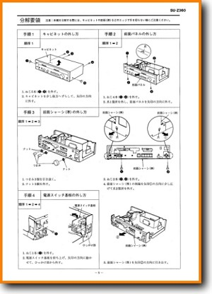 Technics SUZ-360 Amp Receiver Main Technical Manual - PDF & Tech Help* | Japanese