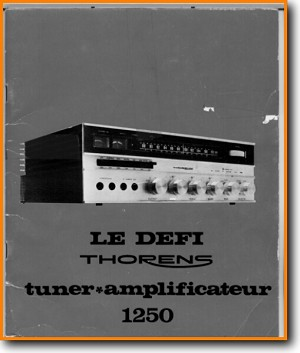 Thorens 1250 Amp Receiver Main Technical Manual - PDF & Tech Help* | English