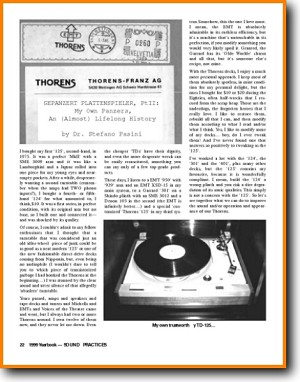 Thorens An (almost)lifelong history Turntable Record Player Main Article - PDF & Tech Help* | English