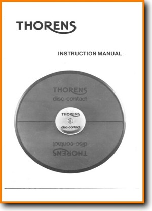 Thorens Disc Contact Turntable Record Player Main User Book - PDF & Tech Help* | English