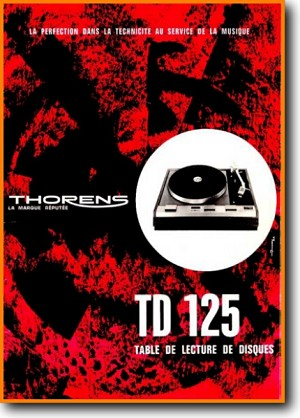 Thorens TD-125 Turntable Record Player Main Brochure - PDF & Tech Help* | French