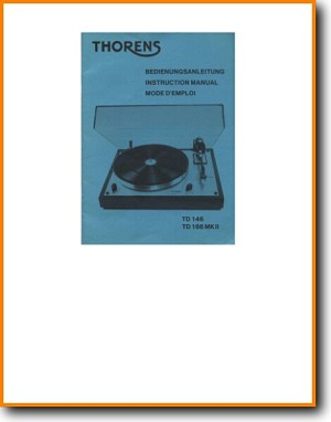 Thorens TD-146 Turntable Record Player Addendum - B User Book - PDF & Tech Help* | English