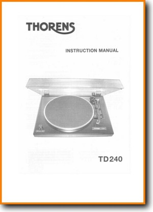 Thorens TD-2402 Turntable Record Player Main User Book - PDF & Tech Help* | English