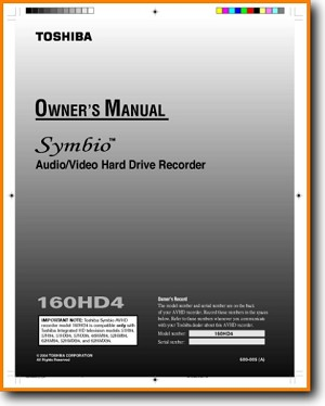 Toshiba 160-HD-4 DVD Player Main User Book - PDF & Tech Help* | English