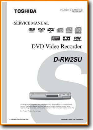 Toshiba DRW-2-SU DVD Player Main Technical Manual - PDF & Tech Help* | English