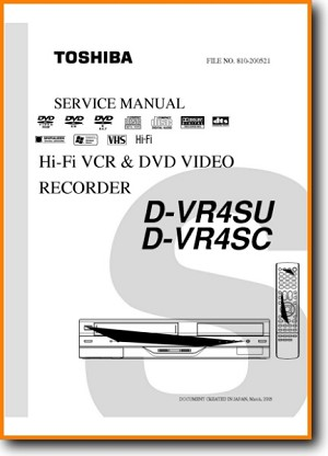 Toshiba DVR-4-SU DVD Player Main Technical Manual - PDF & Tech Help* | English