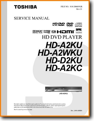 Toshiba HDA-2 DVD Player Main Technical Manual - PDF & Tech Help* | English