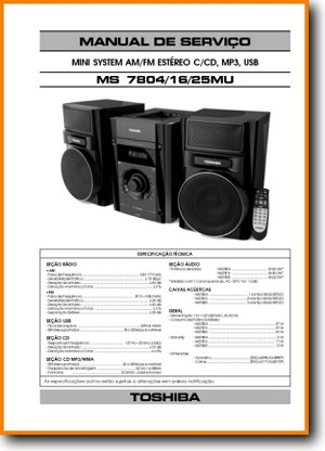 Toshiba MS-7804-MU Mini Shelf System Main Technical Manual - PDF & Tech Help* | Portugese