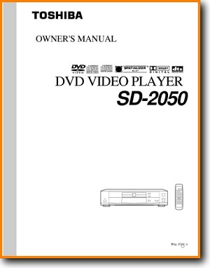 Toshiba SD-2050 DVD Player Main User Book - PDF & Tech Help* | English