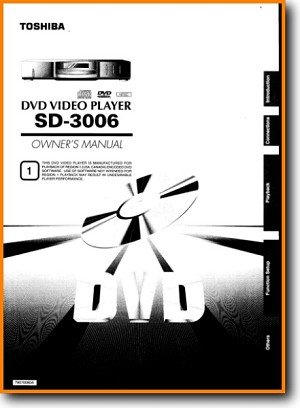 Toshiba SD-3006 DVD Player Main User Book - PDF & Tech Help* | English