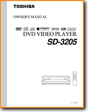 Toshiba SD-3205 DVD Player Main User Book - PDF & Tech Help* | English