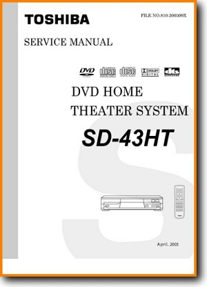 Toshiba SD-43-HT DVD Player Main Schematics - PDF & Tech Help* | English