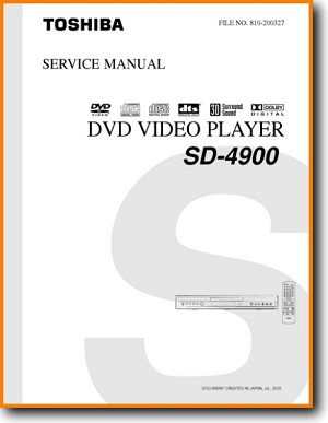 Toshiba SD-4900 DVD Player Main Technical Manual - PDF & Tech Help* | English