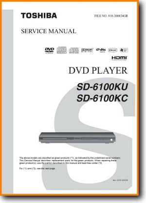 Toshiba SD-6100-KU DVD Player Main Technical Manual - PDF & Tech Help* | English