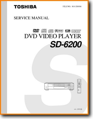 Toshiba SD-6200 DVD Player Main Technical Manual - PDF & Tech Help* | English