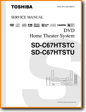 Toshiba SDC-67-HT DVD Player Main Technical Manual - PDF & Tech Help* | English