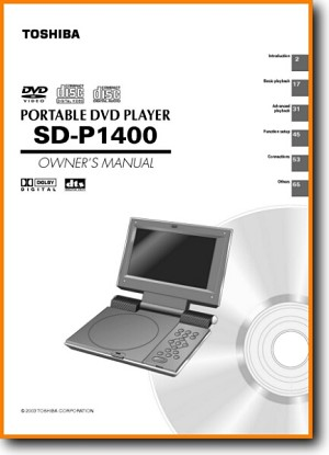 Toshiba SDP-1400 DVD Player Main User Book - PDF & Tech Help* | English