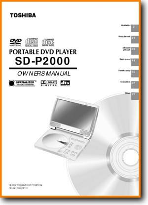 Toshiba SDP-2000 DVD Player Main User Book - PDF & Tech Help* | English