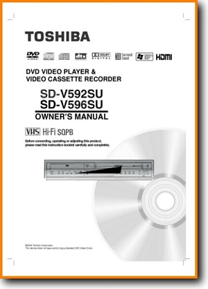Toshiba SDV-596 DVD Player Main User Book - PDF & Tech Help* | English