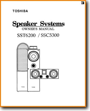 Toshiba SSC-5300 Loudspeaker Main User Book - PDF & Tech Help* | English