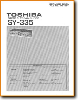 Toshiba SY-335 Amp Receiver Main Technical Manual - PDF & Tech Help* | English