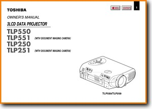 Toshiba TLP-251 Projector Main User Book - PDF & Tech Help* | English