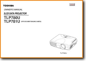 Toshiba TLP-780-U Projector Main User Book - PDF & Tech Help* | English