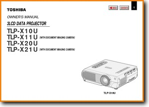 Toshiba TLPX-21-U Projector Main User Book - PDF & Tech Help* | English