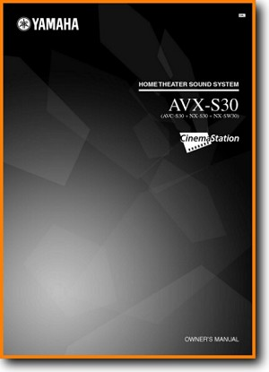 Yamaha AVXS-30 Mini Shelf System Main User Book - PDF & Tech Help* | English