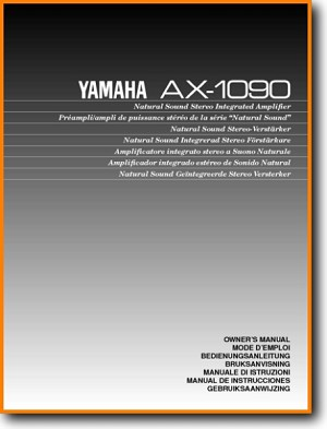 Yamaha AX-1090 Amp Receiver Main User Book - PDF & Tech Help* | English