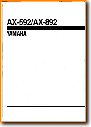 Yamaha AX-592 Amp Receiver Main Schematics - PDF & Tech Help* | English